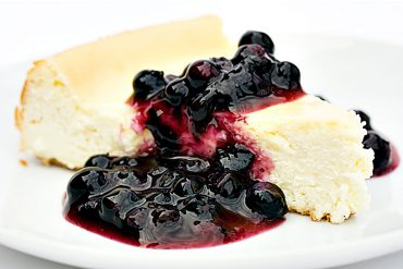 Classic Cheesecake with Wild Blueberry Sauce