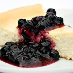 Cheesecake with Wild Ontario Blueberry Sauce