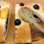 Fresh Peach and Blueberry Tea Bread