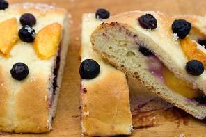Peach and Blueberry Tea Bread