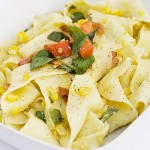 Tagliatelle Pasta with Fresh Corn Pesto