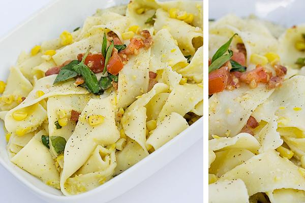 Pasta with Fresh Corn Pesto