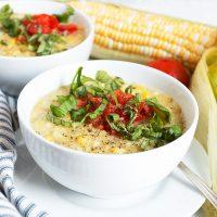 Summer Fresh Corn Soup (Dairy Free and Vegan)