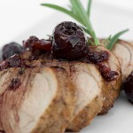 Grilled Pork Tenderloin with Fresh Cherry Sauce