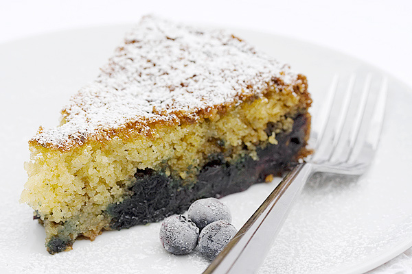 Blueberry Cornmeal Skillet Cake - Seasons and Suppers