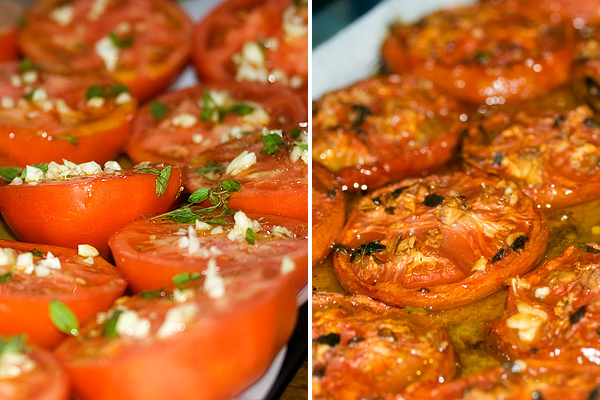 Slow Roasted Summer Tomatoes