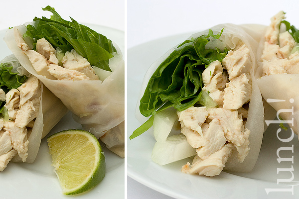 Thai Green Curry Chicken Summer Roll