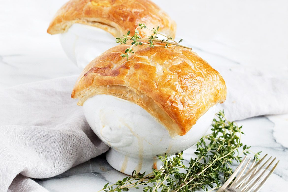 Chicken Pot Pie With Puff Pastry Crust Seasons And Suppers