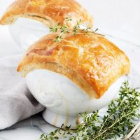 Individual Chicken Pot Pie with Puff Pastry Crust