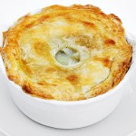 Chicken Pot Pie with Puff Pastry Topping
