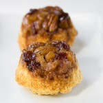 Pear and Cranberry Upside Down Muffins