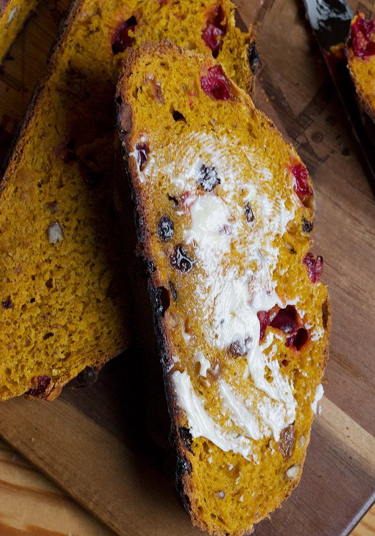 Pumpkin Cranberry Yeast Bread