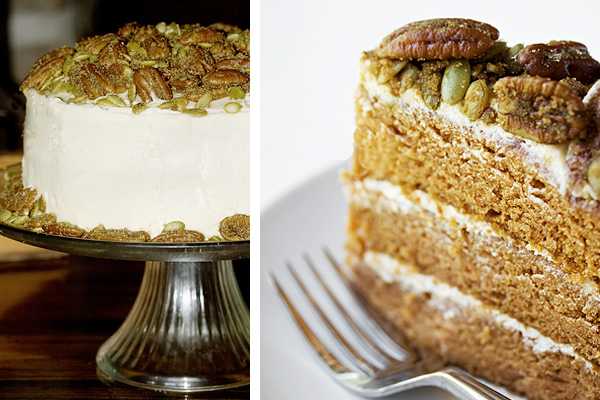 Brown Butter Pumpkin Layer Cake - Seasons and Suppers