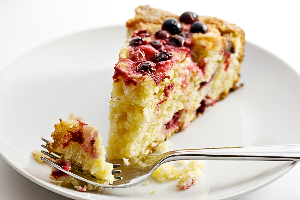 Cranberry Orange Cornmeal Cake - Seasons and Suppers