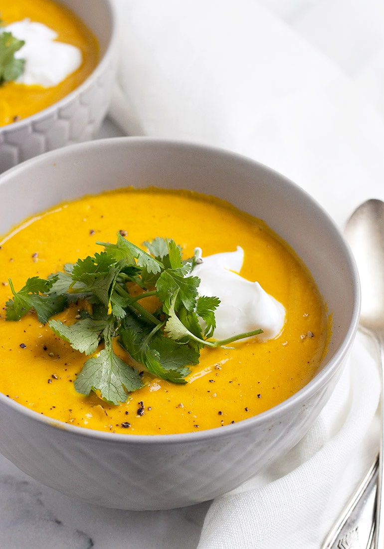Thai Carrot Soup with Coconut Milk