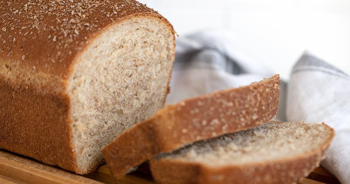honey wheat bread sliced