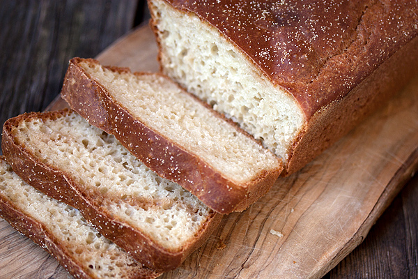 English Muffin Bread sliced