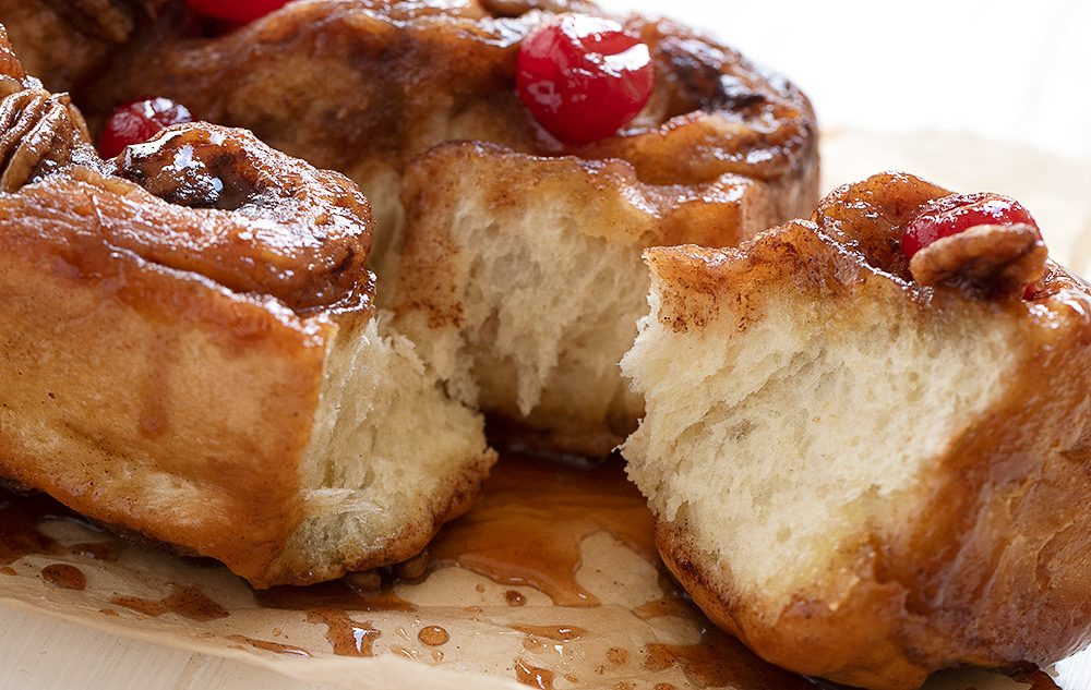chelsea buns pulled apart