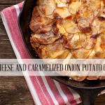 Goat Cheese and Caramelized Onion Potato Galette