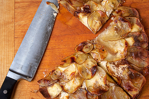 Goat Cheese and Caramelized Onion Potato Galette - Seasons ...