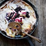 Peach and Blueberry Dutch Baby