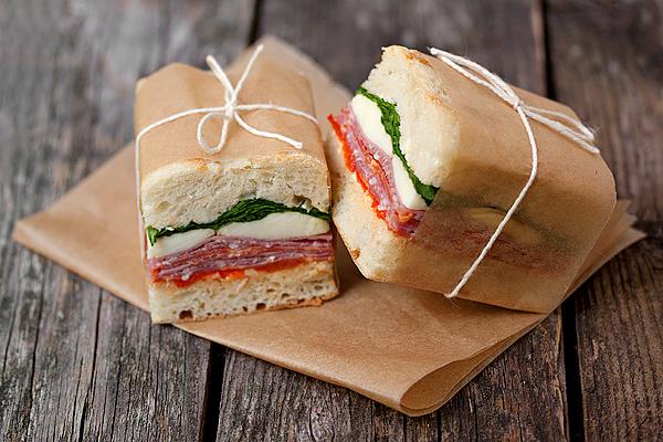 Pressionado sanduíche italiano
