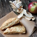 Dried Apple and Cream Cheese Scones (and how to make dried apples)
