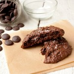 Salted Chocolate Brownie Cookies