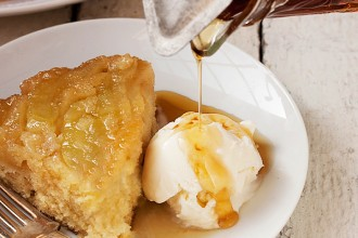 Upside Down Maple Apple Cake