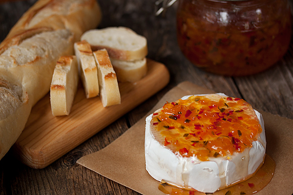 Apricot Jalapeno Cheese Topper