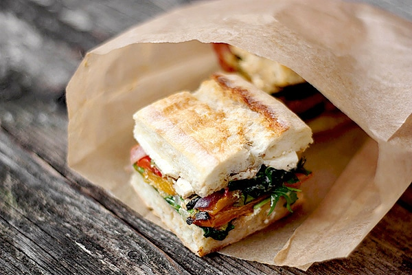 Pressed Roasted Vegetable Sandwich with Goat Cheese, Balsamic and ...