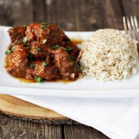 Warm Spiced Beef Curry and Rice