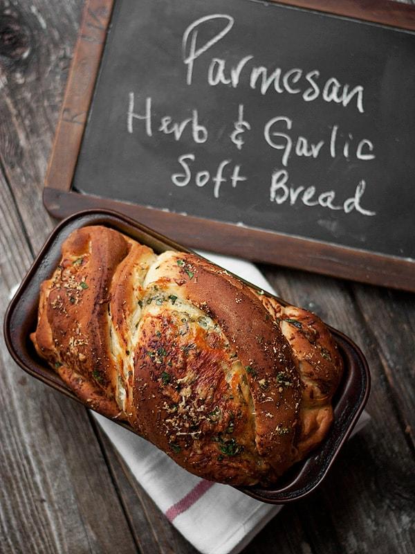 Soft Cheese Bread - Parmesan, Garlic and Herb