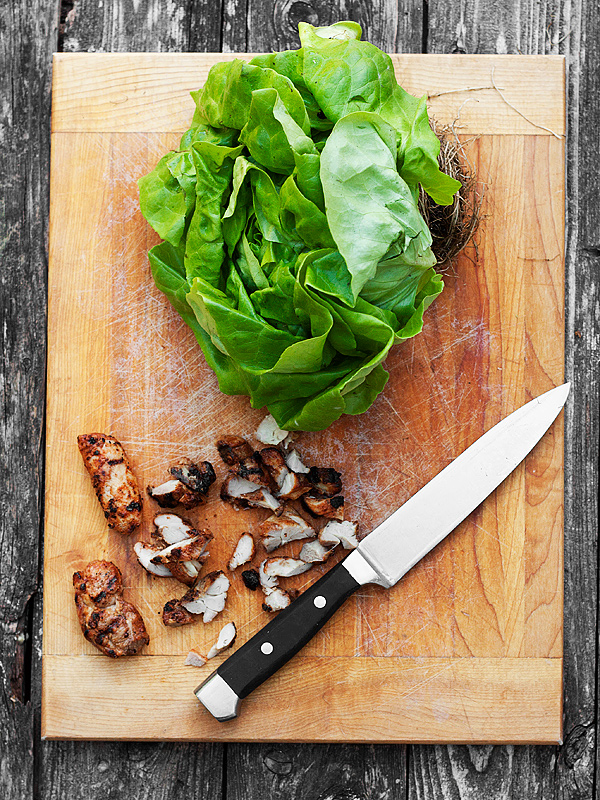 Chicken Tandori Lettuce Wraps with Cucumber Raita