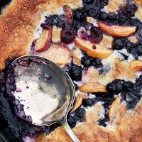 Blueberry Peach Summer Fruit Cobbler