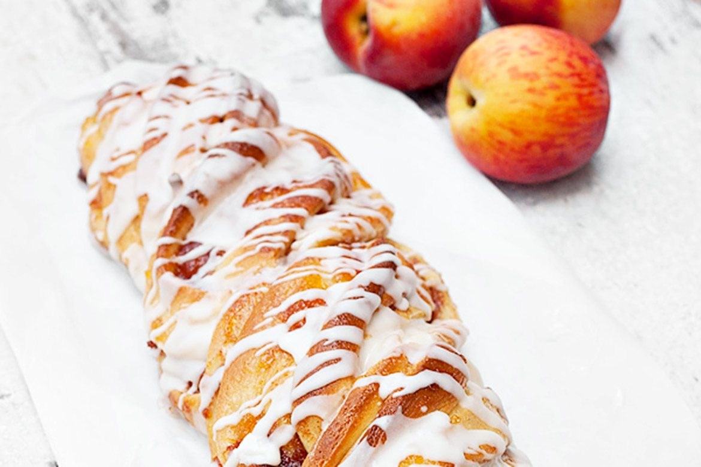 Peach Jam Flip Sweet Bread