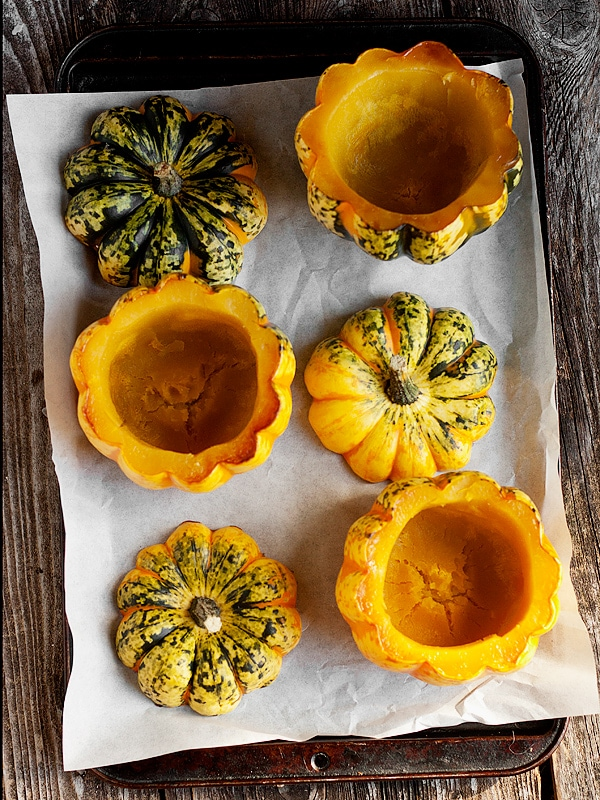 Roasted Squash with Thai Curry Filling