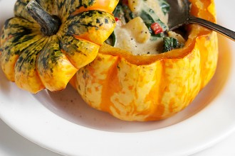 Meatless Monday: Roasted Squash with Thai Curry Vegetable Filling