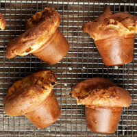 goat cheese popovers on cooling rack