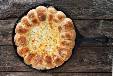 Skillet Bread and Artichoke Dip
