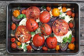 Warm Tomato and Feta Salad