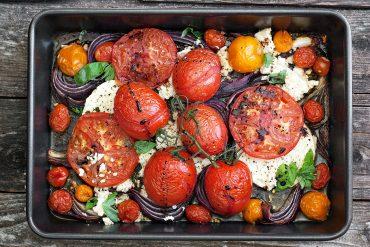 Warm Tomato and Feta Salad