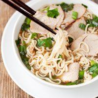 Ramen Noodle Soup with Asian BBQ Char Siu Pork
