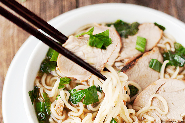 Ramen Noodle Soup with Char Siu Pork