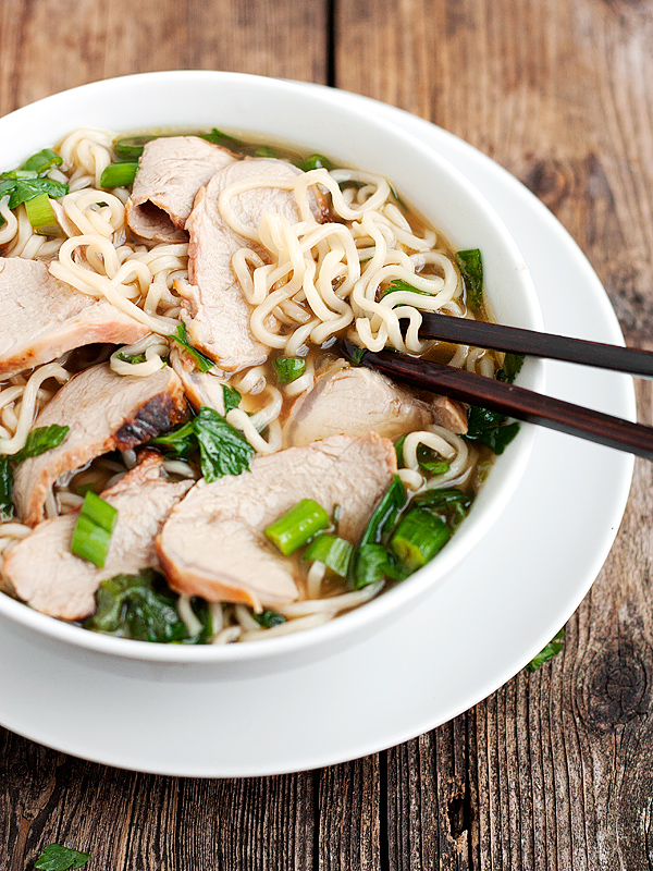 Ramen Noodle Soup with Char Siu Pork - Seasons and Suppers