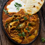 Indian Spiced Stew with Chicken and Potatoes in a Creamy Tomato Sauce