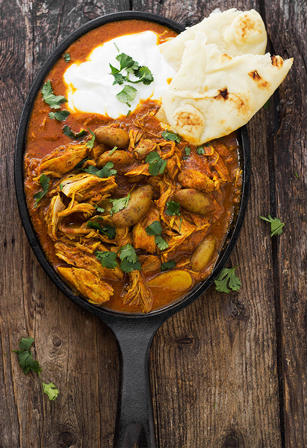 Indian Spiced Stew with Chicken and Potatoes - Seasons and Suppers