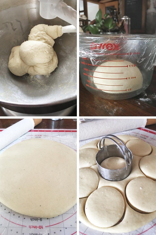 preparing paczki dough