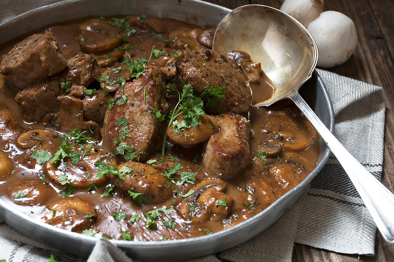 Mushroom Marsala Pork Tenderloin