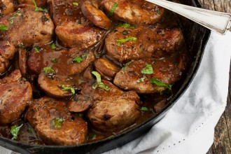 Skillet Pork Medallions in Mushroom Marsala Sauce - It's what to do with those pork tenderloins. One skillet - 20 minutes!